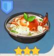 Суп из морепродуктов и каллы