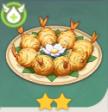 Золотые шарики из креветок